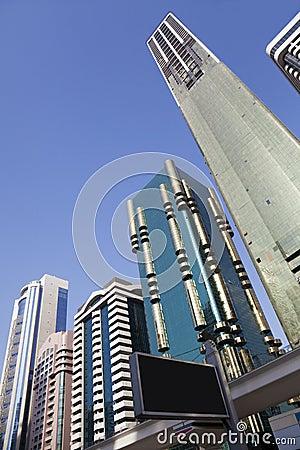 Dubai linia horyzontu uae