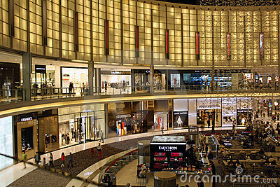 The Dubai Mall Editorial Stock Photo