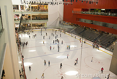 Dubai Mall ice rink Editorial Photo