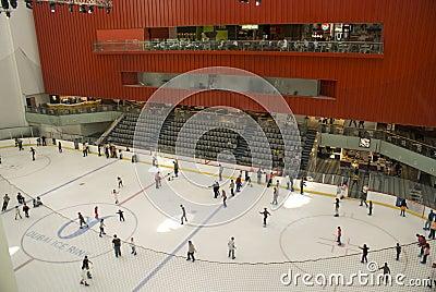 Dubai Mall ice rink Editorial Stock Image