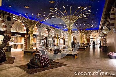 Dubai Mall inside gold souq Editorial Stock Image