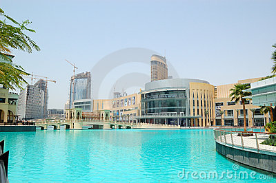 The Dubai Mall and man-made lake Editorial Photography