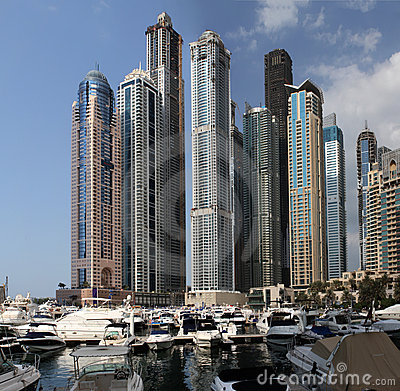 Dubai Marina Editorial Photo
