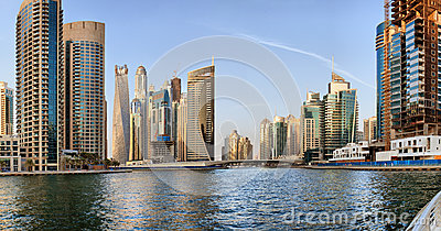 Dubai Marina Editorial Photo