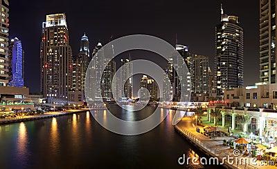 Dubai Marina Editorial Photography