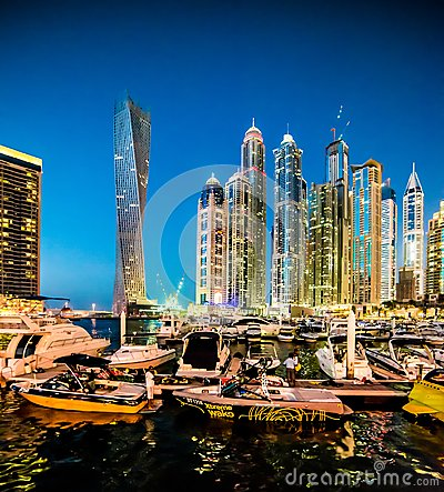 Dubai Marina Editorial Stock Image