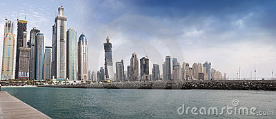 Dubai Marina construction site