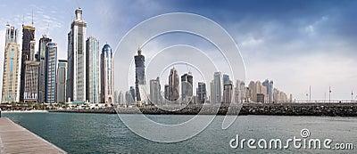 Dubai Marina construction site