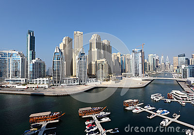 Dubai Marina high angle view