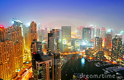 Dubai Marina Night Scene 6