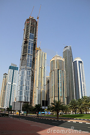 Dubai Marina skyscrapers, united arab emirates