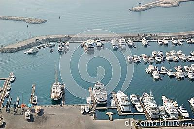 Dubai Marina yacht parking