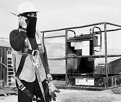 Royalty Free Stock Images: Dubai Metro Construction Worker