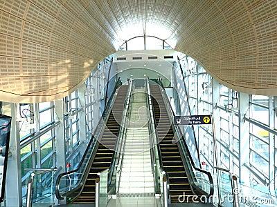 Dubai Metro Train Station