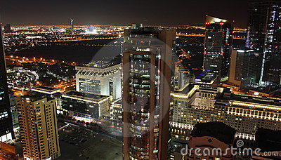 Dubai at night Editorial Image