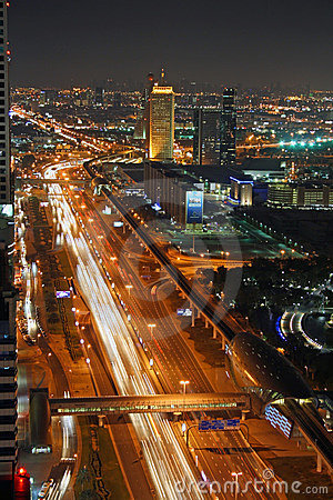 Dubai at night Editorial Photography