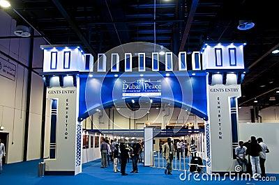 Dubai Peace Convention 2012 exhibition gate Editorial Image