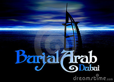Dubai Poster Horizon Blue with Burj Al Arab
