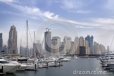 Dubai - Skycrapers over the marina