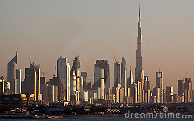 Dubai Skyline Royalty Free Stock Photo - Image: 14329235