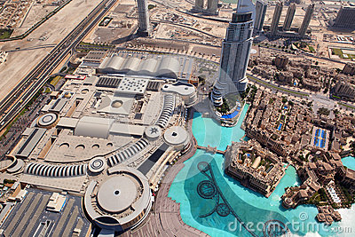 Dubai, the top view on Dubai downtown Editorial Photo