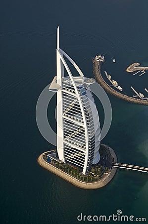 Dubai, view of the Burj al Arab hotel