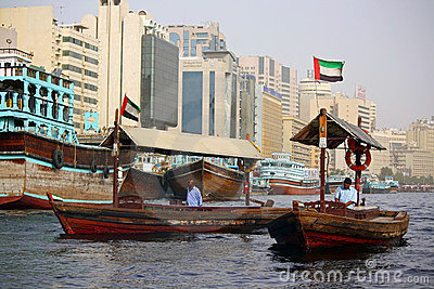Dubai water taxi Editorial Stock Image