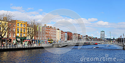 Dublin Redaktionell Arkivbild