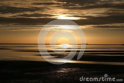 Dublin bay at dawn