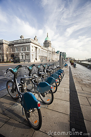 Dublin bikes Editorial Stock Photo