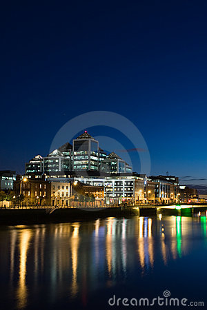 Free Dublin Docklands At Night Royalty Free Stock Images - 5436029