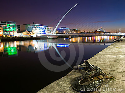 Dublin Docklands by Night Editorial Image