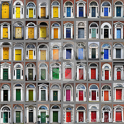 Free Dublin Doors Stock Photo - 26708050
