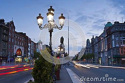 Dublin at dusk Editorial Photography