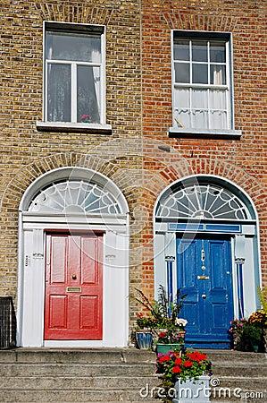 Dublin facade. Ireland