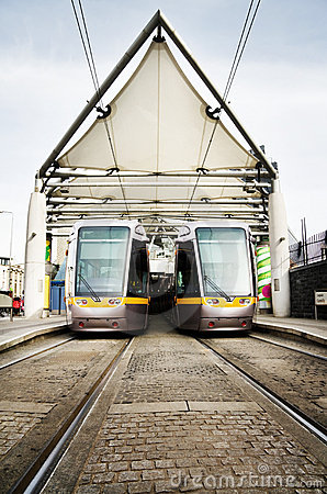 Dublin Luas public transport trams