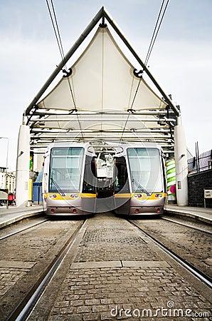 Dublin Luas public transport trams