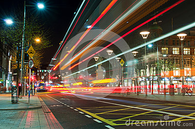 Dublin at night Editorial Image