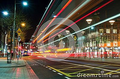 Dublin at night Editorial Image