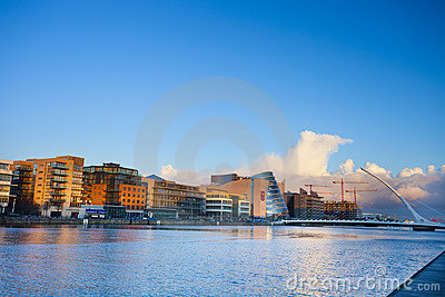 Dublin quay Editorial Stock Photo