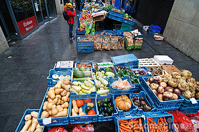Dublin s bio vegetables open market Editorial Photo