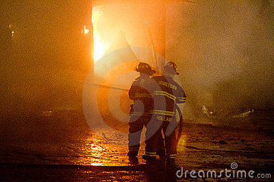 DuBois Construction Fire 01-07-2012 Editorial Photo