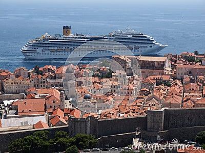 Dubrovnik, Croatia Fotografia Editoriale