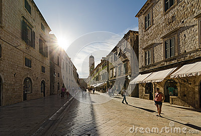 Dubrovnik, Croatia. Old Town Editorial Photography