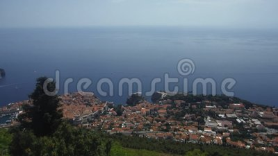 Dubrovnik, Kroatië, mooie mening, panorama stock footage