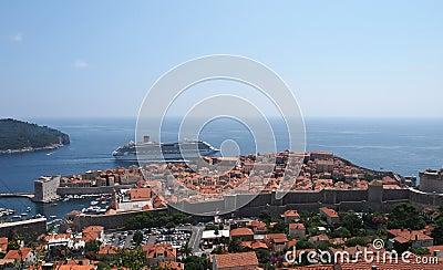 Dubrovnik Kroatien Redaktionell Foto