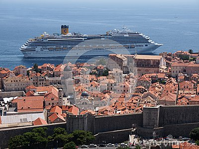 Dubrovnik Kroatien Redaktionell Arkivbild