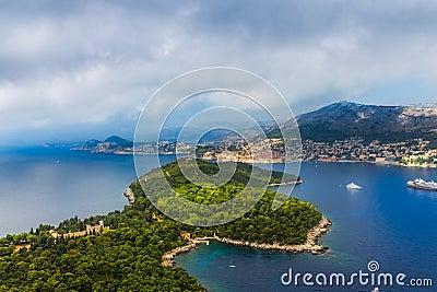 Dubrovnik - Lokrum aerial