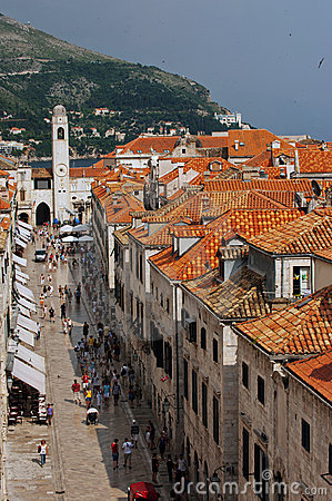 Dubrovnik main street Editorial Photography