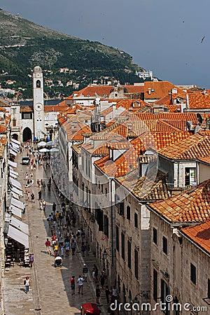 Dubrovnik main street Editorial Photography